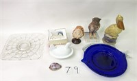 Owl Statue, Hen w/ Nest, Snow Babies, Etc.