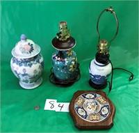 Ginger Jar, Lamps plus misc. items
