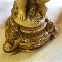 Brass Grave Vase, Globe, Astrolabe, Cherub