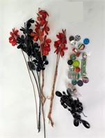"App. 6'10"" by 3'6"" Door Beads, Marbles, Flowers +"