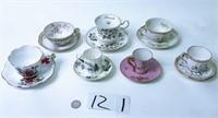 7 Cup & Saucer Sets