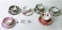 6 Cup & Saucer Sets - Lefton, England, Japan,