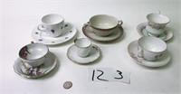 6 Cup & Saucer Sets - Austria, England, Japan