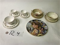5 Cup & Saucer Sets & 1 Plate