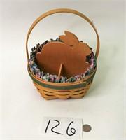1999 Easter Bunny Longaberger Basket