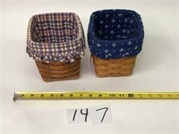 2 Longaberger Baskets with Inserts