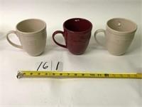 3 Large Longaberger Mugs