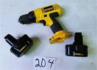 """12 Volt DeWalt Cordless 3/8"""" Drill/Driver"""
