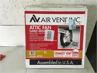 AV Airvent Inc. Attic Fan Gable Mount Unused