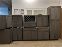 Grey Stone Shaker 11pc AG Kitchen Cabinet Set