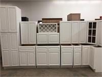Newport White 13 pc Hardwood Kitchen Cabinet Se