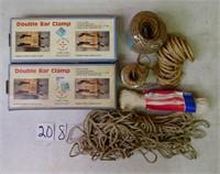 Double Bar Clamps in Box & Rope