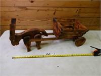 Wooden Donkey & Cart Planter
