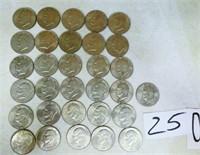 31 Eisenhower Dollars