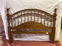 Full-sized Bed with rails