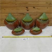 Decorative pottery vases