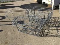 Nine wire baskets 23 1/2 x 12 x 9