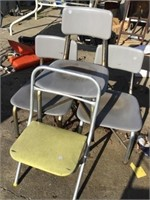 Four child's chairs
