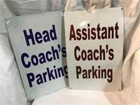 Head coach and assistant coach parking aluminum