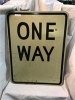 One way aluminum sign, 24 x 18