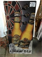 Miller genuine draft tin sign, 23 1/2 x 49
