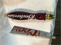 Budweiser Plastic and Coors aluminum tap handles
