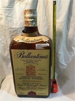 Ballantines scotch whiskey  bottle