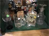 Decanter, green river Kentucky bourbon bottle,