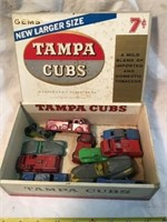 Tootsie toys in cigar box