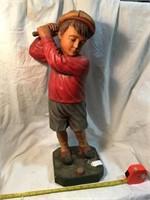 Boy golfer, Plastic, missing part of the club, 23