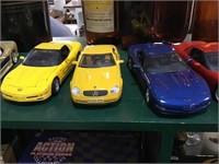 Seven sports cars