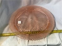 Glass serving tray, 12 inch
