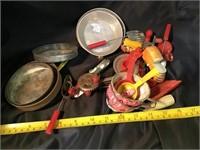 Assortment of children's kitchen accessories