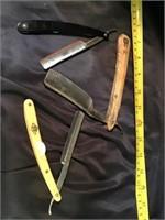 Three straight razors including puma