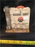 Kosciusko County Farm Bureau co-op rain gauge