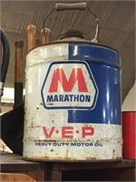 Marathon VEP motor oil Can