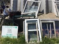 Windows, farm credit service sign, mailbox