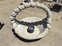 Cement Basket, 21 x 20