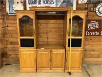 Oak Glass door wall unit