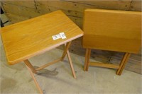 2 Wooden TV Trays