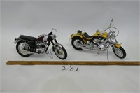 2 Model Collectable Motorcycles