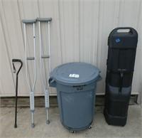 Cane, crutches, trash can Golf Club case