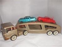 Tonka Car Hauler w/2 Cadillac's