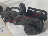 Cast Iron Cycle- Plastic Tractor -bus(ertl)
