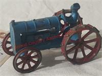 Arcade Cast Iron Steel Wheeled Tractor w/man