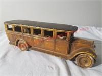 Skoglund & Olson Cast Iron Bus w/driver-rare