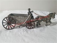 Cast Iron Horse & Contractors Wagon