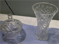 Laded Crystal dishes 13 Pieces