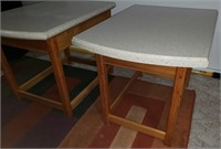 Pr. of Corian Countertop Tables