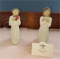 2 Willow Tree Figurines